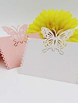 Papier Perlé Porte-cartes de lieu Marque-place debout Sac en polyéthylène