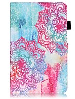 cheap -Case For Samsung Galaxy Tab A 10.1 (2016) Card Holder Wallet with Stand Pattern Auto Sleep/Wake Up Full Body Cases Mandala Hard PU Leather