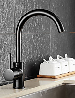 Standard Spout Vessel Rotatable with  Ceramic Valve Single Handle One Hole for  Oil-rubbed Bronze , Kitchen faucet