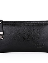 Men Bags All Seasons PU Clutch Zipper for Casual Office & Career Black Brown