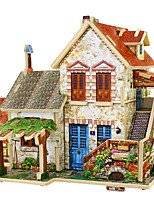 cheap -Jigsaw Puzzles 3D Puzzles Building Blocks DIY Toys House 1 Wood Model & Building Toy