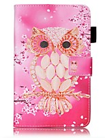 cheap -Case For Samsung Galaxy Tab A 7.0 (2016) Card Holder Wallet with Stand Pattern Auto Sleep/Wake Up Full Body Cases Owl Hard PU Leather for