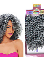cheap -3pieces/Pack Brazilian Ombre Crochet Kinky Curly Hair Weaves 10inch Synthetic Crochet Curly Braids Weaving 2 Or 3 Pack One Pack one head