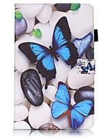 baratos -Capinha Para Samsung Galaxy Tab A 10.1 (2016) Porta-Cartão Carteira Com Suporte Estampada Auto Dormir/Despertar Capa Proteção Completa