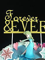 10pcs Forever Design Wedding Cake Topper Party Decoration Paper Glitter Cake Topper Wedding Decoration