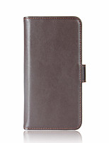 cheap -Case For Motorola Card Holder Wallet Flip Full Body Cases Solid Color Hard Genuine Leather for Moto Z2 play Moto G5 Plus Moto G5 Moto G4