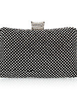 Women Bags All Seasons Polyester Evening Bag Rhinestone for Wedding Event/Party Formal Gold Black Silver