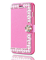 cheap -Case For Apple iPhone X iPhone 8 Card Holder Rhinestone Full Body Cases Solid Color Hard PU Leather for iPhone X iPhone 8 Plus iPhone 8