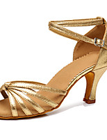 Для женщин Латина Углеволокно На каблуках Концертная обувь Каблуки на заказ Золотой Черный Серебряный Темно-серый Персонализируемая