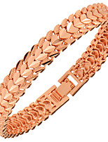 Men's Women's Chain Bracelet Jewelry Fashion Gold Copper Heart Geometric Jewelry For Party Special Occasion Anniversary Birthday Gift