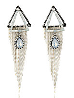 Women's Earrings Set Basic Tassel Geometric Metallic Rhinestone Alloy Jewelry For Party Gift Evening Party Club