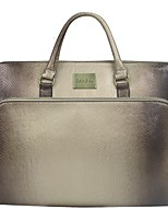Women Bags All Seasons PU Tote Zipper for Casual Office & Career Silver