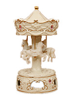 cheap -Music Box Toys Lighting Tower Ceramics Resin Pieces Unisex Gift