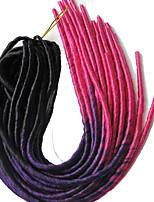 Dread Locks Hair Braid Ombre Braiding Faux Locs 20 Roots/pack 100% Kanekalon
