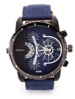 Недорогие -JUBAOLI Муж. Армейские часы Кварцевый Календарь С двумя часовыми поясами Крупный циферблат Материал Группа Cool Черный Красный Зеленый