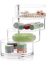 Недорогие -пластиковая круглая прозрачная многофункциональная прозрачная организация тела тела, 1 шт.