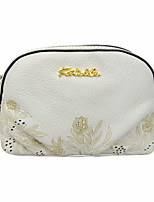 Women Bags All Seasons Cowhide Clutch with Zipper for Event/Party Casual White