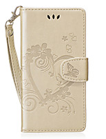 cheap -Case For Huawei P8 Lite (2017) Honor 8 Card Holder Wallet with Stand Flip Pattern Full Body Cases Heart Hard PU Leather for P8 Lite