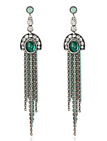 Women's Earrings Set Basic Tassel Vintage Emerald Alloy Jewelry For Party Gift Evening Party Date Club