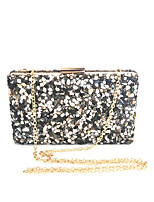 cheap -Women Bags Glasses Metal Evening Bag Crystal Detailing for Event/Party All Season Black White