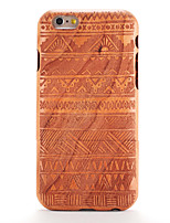 cheap -Case For iPhone 6s iPhone 6 Apple Pattern Embossed Back Cover Wood Grain Geometric Pattern Hard Wooden for iPhone 6s iPhone 6