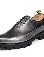 cheap -Men's Shoes Synthetic Microfiber PU Spring Fall Formal Shoes Oxfords for Office & Career Party & Evening Gold Black Silver Wine