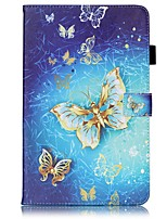 cheap -Case For Samsung Galaxy Tab A 10.1 (2016) Card Holder Wallet with Stand Pattern Auto Sleep/Wake Up Full Body Cases Butterfly Hard PU