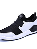 Men's Sneakers Cycling Comfort Fabric Spring Fall Athletic Casual Outdoor Flat Heel Black/Red Black/White Black Flat