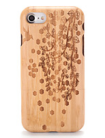 For Case Cover Embossed Pattern Back Cover Case Wood Grain Tree Hard Wooden for AppleiPhone 7 Plus iPhone 7 iPhone 6s Plus iPhone 6 Plus