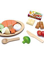 abordables -Toy Foods Circulaire Bois Enfant