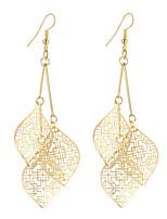 Mulheres Brincos Compridos Jóias Pingente Estilo Boêmio Estilo simples Elegant bijuterias Moda Vintage Prata Chapeada Chapeado Dourado