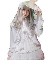 Недорогие -Сладкое детство Блузы/сорочки Косплей Розовый Черный Белый Синий Цвет фуксии Длинный рукав