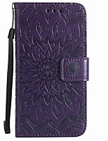 cheap -Case For Wiko Wallet / Card Holder / with Stand Full Body Cases Flower Hard PU Leather for Wiko Lenny 3 / Wiko Lenny 2