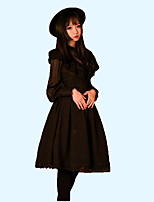 cheap -Sweet Lolita Dress Blouse/Shirt Cosplay Black White Long Sleeves