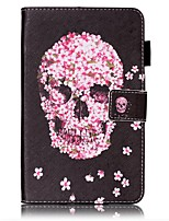 cheap -Case For Samsung Galaxy Tab A 7.0 (2016) Card Holder Wallet with Stand Pattern Auto Sleep/Wake Up Full Body Cases Skull Hard PU Leather