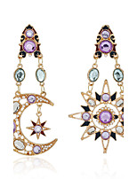 Earrings Set Crystal Euramerican Fashion Personalized Alloy Jewelry For Wedding Party Birthday Gift 1 pair