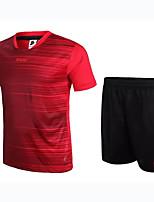 Unisexe Football Ensemble de Vêtements/Tenus Respirable Vestimentaire Confortable Printemps Eté Automne Couleur Pleine FootballRouge Bleu
