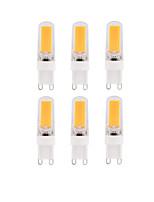 abordables -BRELONG® 6pcs 3W 250-300lm E14 G9 G4 Bombillas LED de Mazorca T 1 Cuentas LED COB Regulable Blanco Cálido Blanco 220-240V