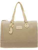 Women Bags All Seasons Canvas Shoulder Bag Split Front for Casual Beige