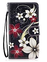 billiga -fodral Till Huawei Honor 7 / Huawei P9 Lite / huawei Y560 Plånbok / Korthållare / med stativ Fodral Blomma Hårt PU läder för Huawei P9 Lite / P8 Lite (2017) / Honor 8