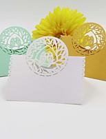 Papier durci Porte-cartes de lieu Marque-place debout Sac en polyéthylène