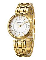 Mulheres Relógio Casual Relógio de Moda Relógio de Pulso Chinês Quartzo Impermeável Lega Banda Casual Elegant Minimalista Prata Dourada
