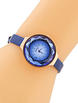 cheap -Women Fashion Watch Quartz PU Band Vintage Casual Black Blue Brown Blue Coffee Black
