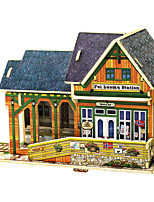 cheap -3D Puzzles Wood Model Toys House Wood Children's 1 Pieces