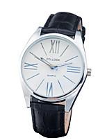 abordables -Mujer Reloj de Vestir Reloj de Moda Chino Cuarzo Piel Banda Casual Negro Blanco Marrón Rose