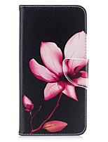 Недорогие -Кейс для Назначение IPhone 7 / iPhone 7 Plus / iPhone 6s Plus Кошелек / Бумажник для карт / со стендом Чехол Цветы Твердый Кожа PU для iPhone SE / 5s