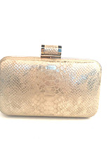 Women Bags All Seasons Metal Clutch Metallic for Event/Party Gold