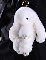 Portafortuna per Borsa/Cellulare/Portachiavi Pelliccia di coniglio