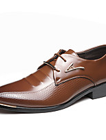 cheap -Men's Shoes Leatherette Spring Summer Driving Shoes Comfort Oxfords Rivet for Office & Career Party & Evening Brown Black