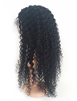 Women Human Hair Lace Wig Silk Base Full Lace Full Lace Wigs 120% Density With Baby Hair Kinky Curly Wigs Brazilian Hair Black Medium For